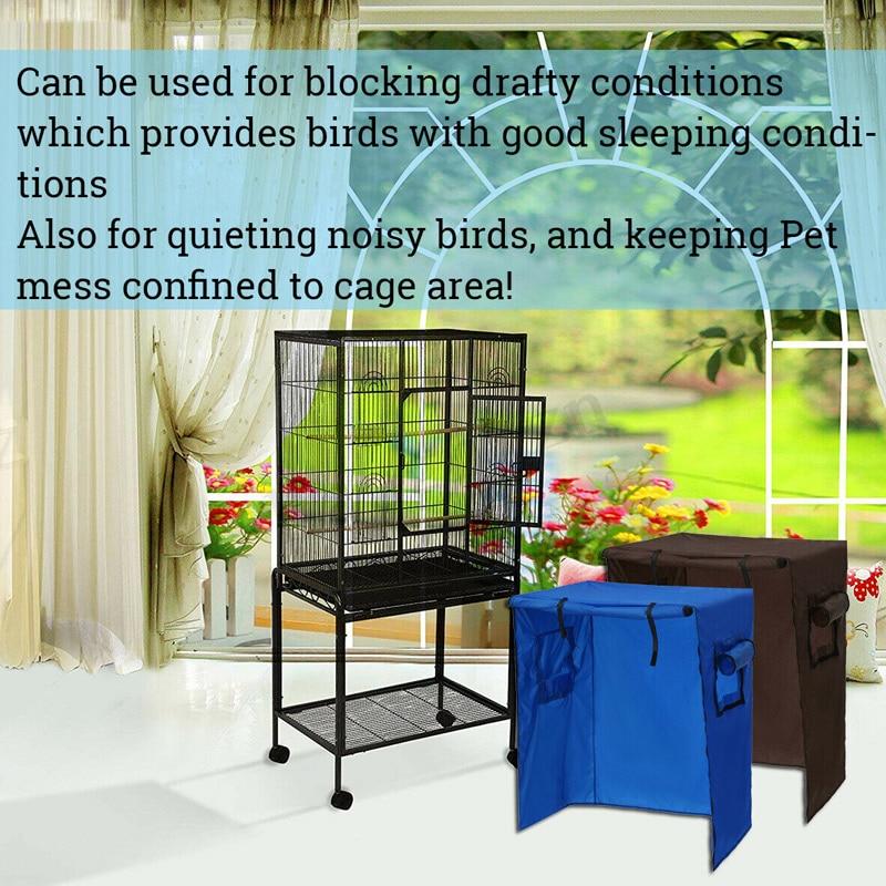 Los Loros aviario aves jaula cubierta protector atrapasemillas bolsa impermeable protección ligera TP899