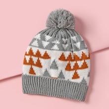 Kids Ball Skullies Beanies Hat Velvet Winter Hat Cap Children Knitting Cap Pompoms Winter Warm Baby