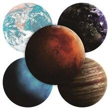 Nouveau exquis planètes étoile motif rond tapis de souris 200x200MM 7 types de tapis de souris étoile choisir pour cadeau/jeu/bureau tablette tapis