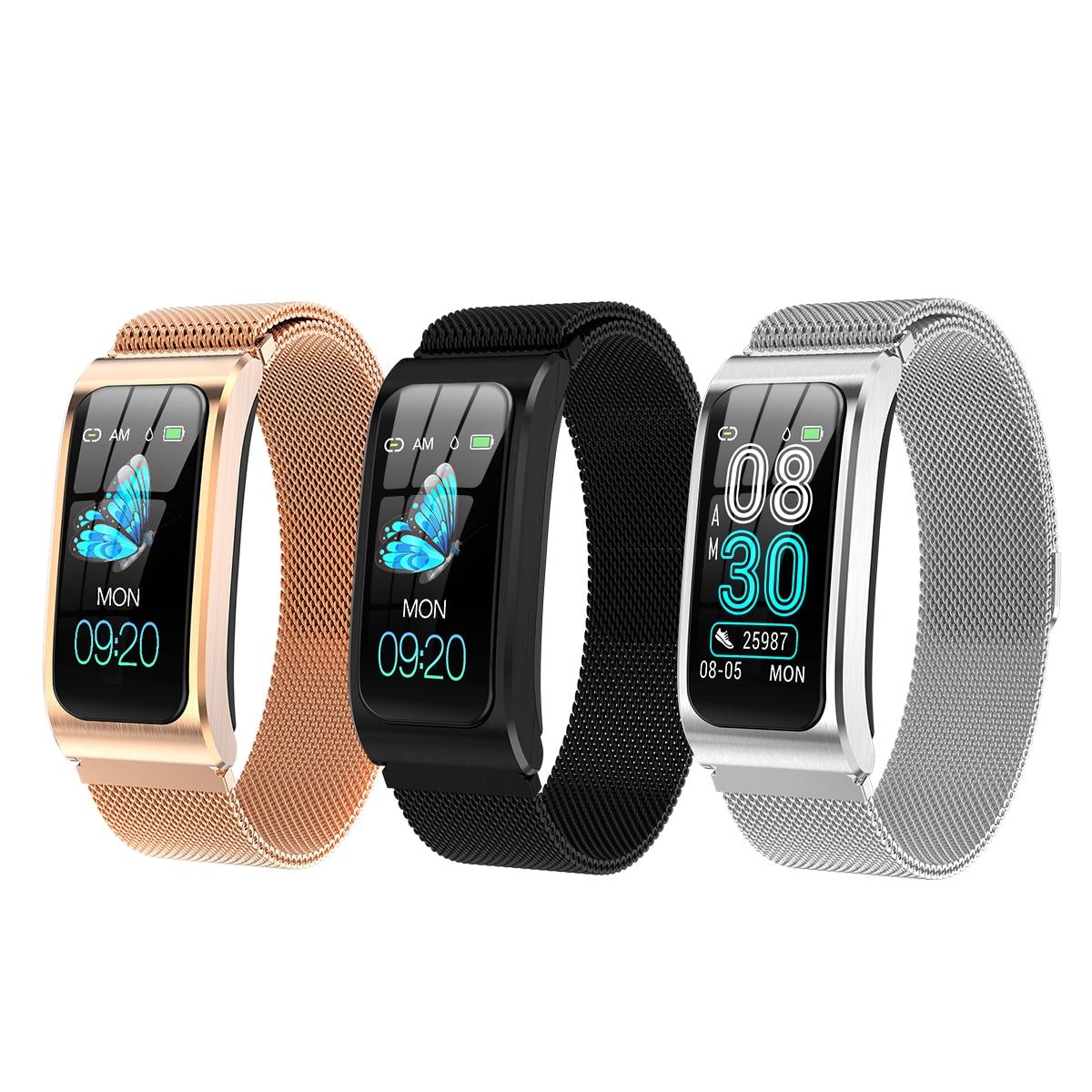 IP67 Waterproof AK12 Smart Bracelet Women Sphygmomanometer Menstrual Cycle Activity Tracker BT Men Sport Watches Wristband
