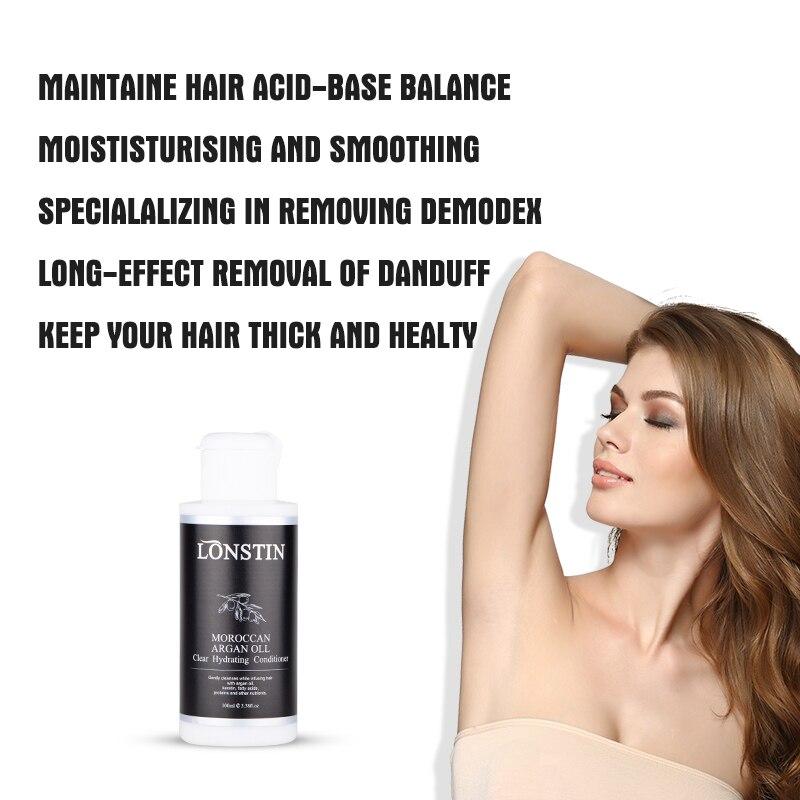 Купить с кэшбэком 100ML Argan Oil Mask Lonstin Hair Repair Conditioner for All Kind of Hair Repairs Damage Hair Treatment Cream Restore Soft