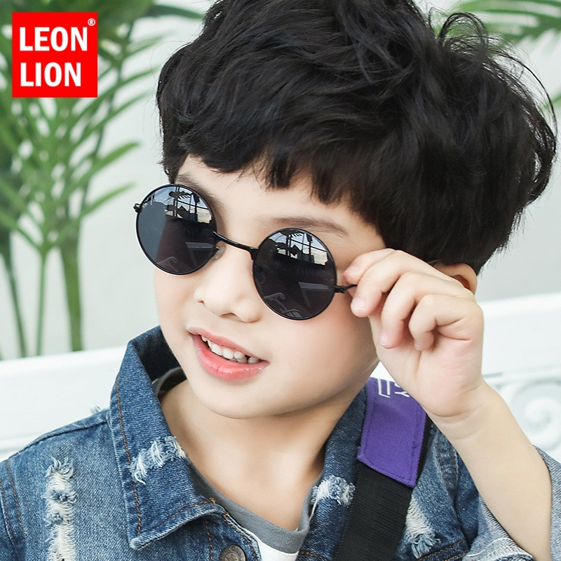 AliExpress - LeonLion 2021 Round Sunglasses Children Luxury Brand Sunglasses Children Cute Glasses For Boy/Girl Mirror Oculos De Sol Feminino