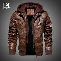 Мужские кожаные куртки, новинка зимы 2020, повседневная мотоциклетная куртка из искусственной кожи, байкерские кожаные пальто, европейская в...