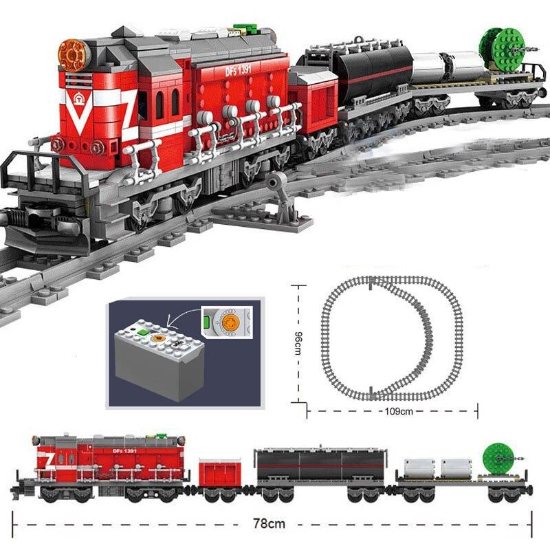 Nuevo tren eléctrico, alimentado por batería técnico juguete, ciudad Fuxing, Riel de alta velocidad, DIY, bloques de construcción, regalos, Juguetes