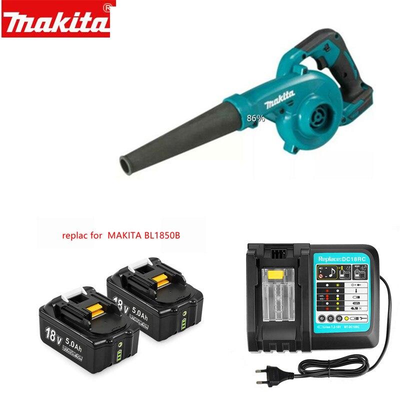 Makita sem Fio Bateria e Carregador Substituir a Dub182z Dub182 com 5.0a Soprador Ferramenta 18v Dub185