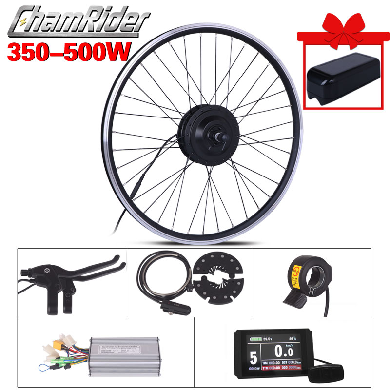 Rueda de Motor eléctrico 350W 500W 48V Kit de conversión de bicicleta eléctrica ebike 36V Kit de bicicleta eléctrica MXUS 15F 15R 15C Motor de cubo
