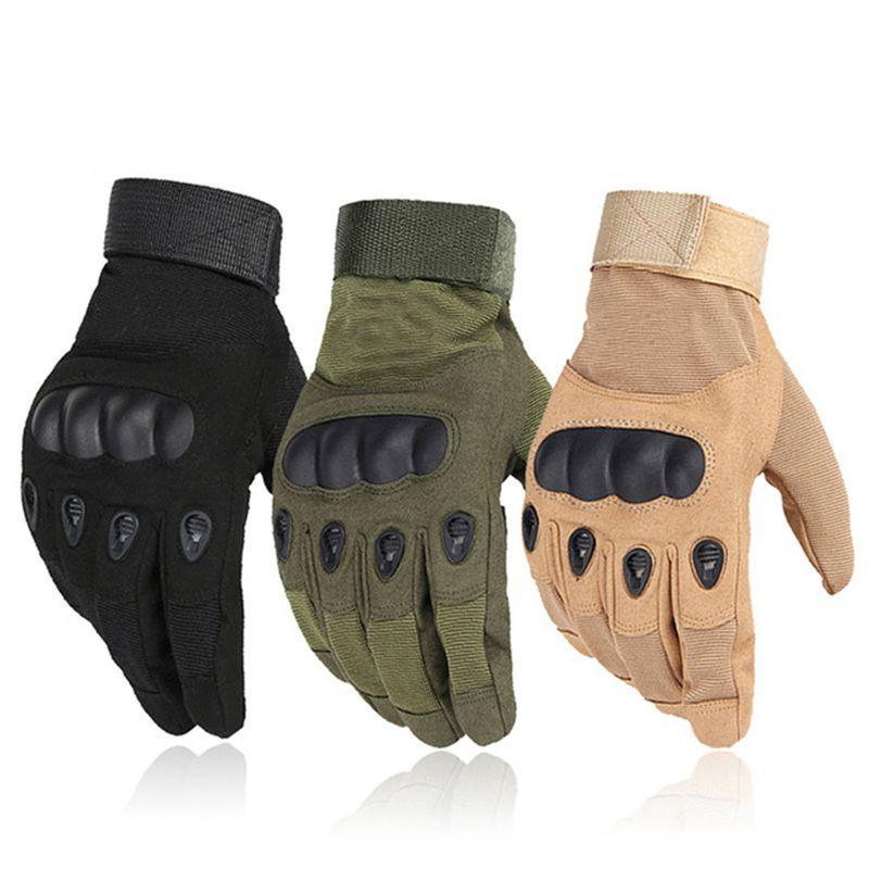 Outdoor Sport Gym Handschuhe Männer Frauen Voll Finger Handschuh Army Military Fäustlinge Kampf Anti-Slip Carbon Fiber Shell Tactical handschuhe
