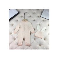 new fashion letter style baby clothes knit sweater cardigan toddler newborn baby boy girls brown pink blanket romper and hat set