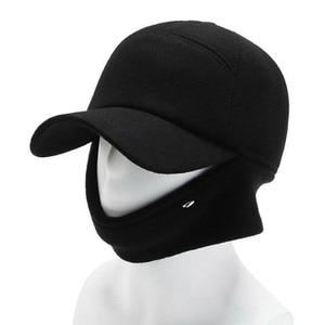 Winter earmuffs hats for men snapback cap men's warm thick baseball caps Sombrero de invierno senior dad's hat New brands hat