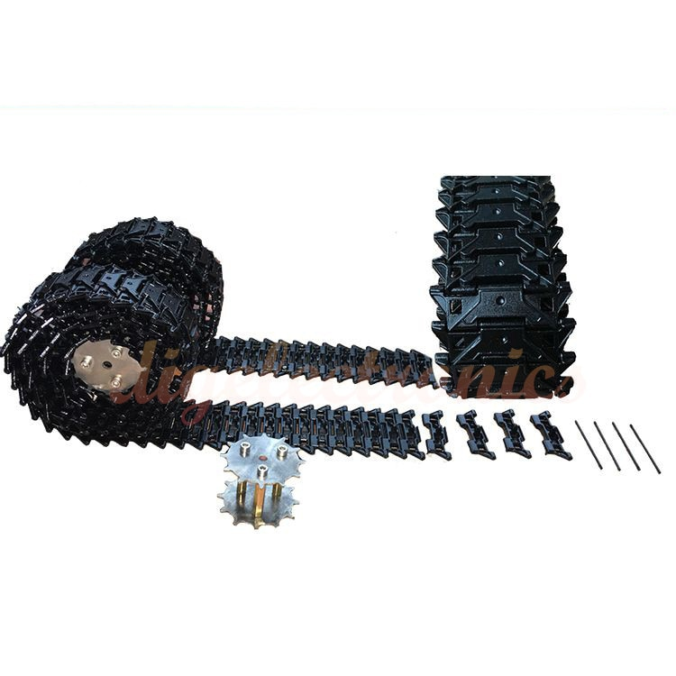 M41A1-3 Metal Tracks Caterpillar Crawler Chain for Tank Car Robot Chassis RC Smart Robot Model Assem