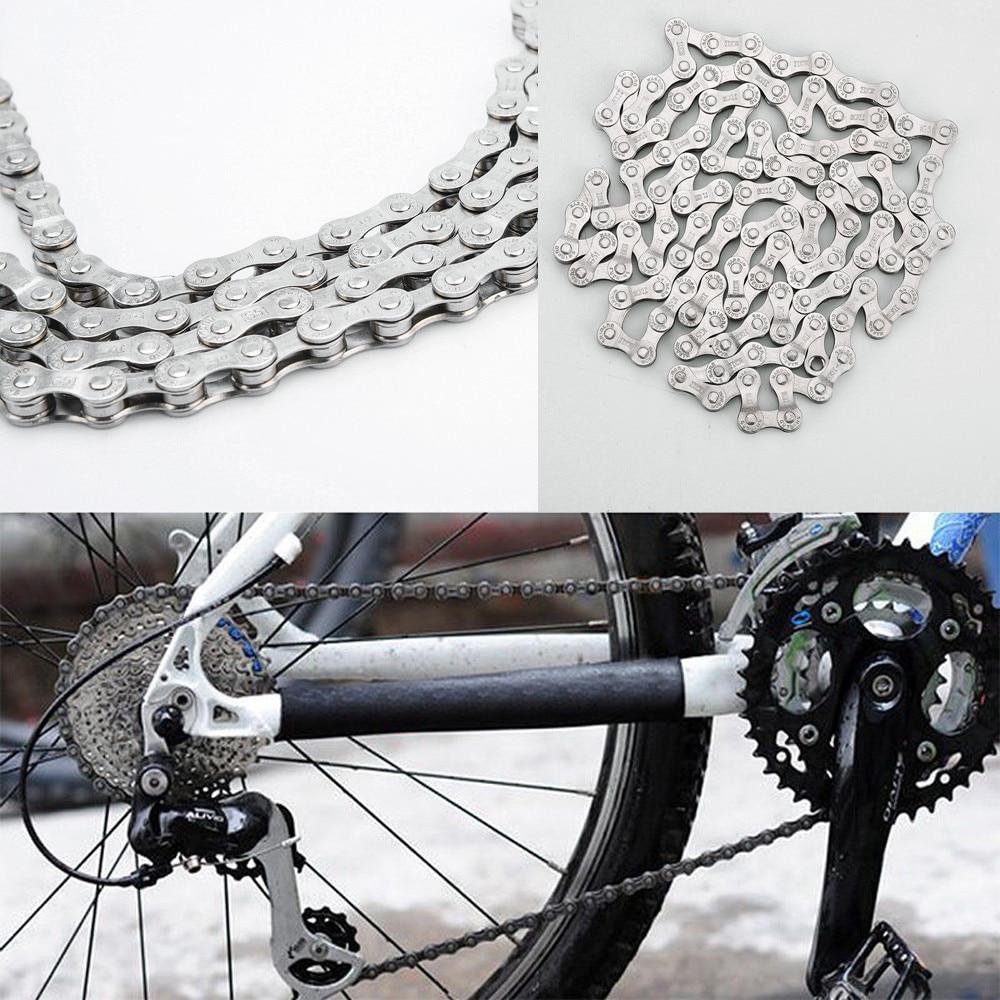 Accesorios para Bicicleta de montaña, cadena de acero de 6-7-8 velocidades, 116...