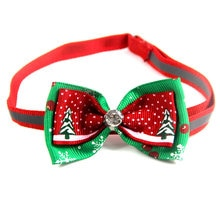 Christmas Holiday Pet Cat Dog Collar Bow Tie Adjustable Neck Strap Cat Dog Grooming Accessories Pet
