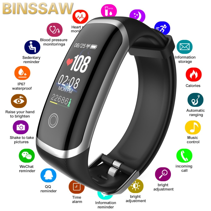 New Smart Bracelets Men's Waterproof Smart Watches Heart Rate Fitness Tracker Wristband Sports Wrist