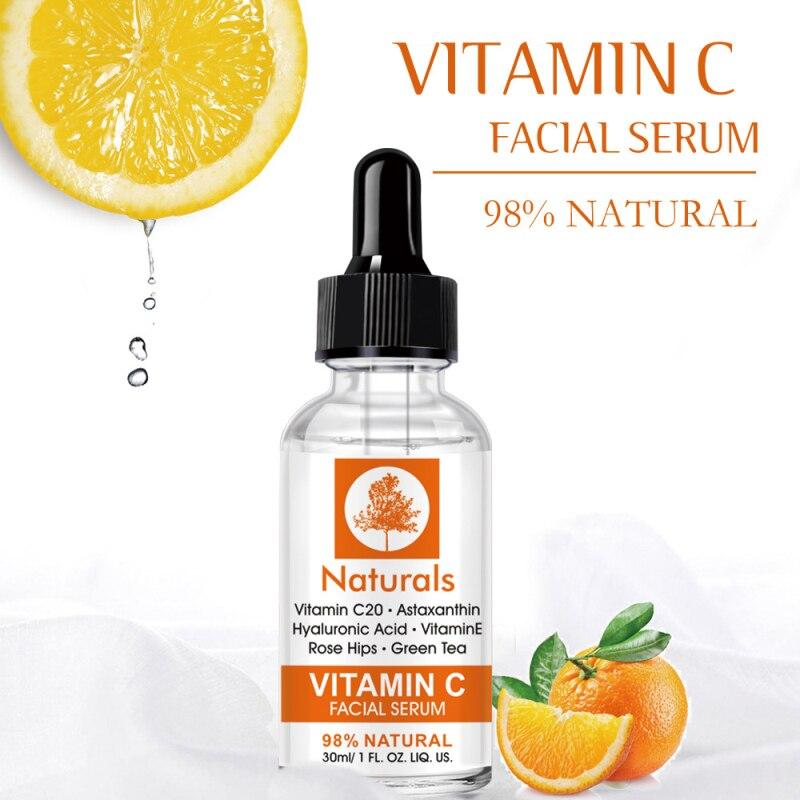 30ml Hyaluronic Acid Serum 20% Anti-Aging Shrink Pore Whitening Moisturizing Essence Oil Control Fac