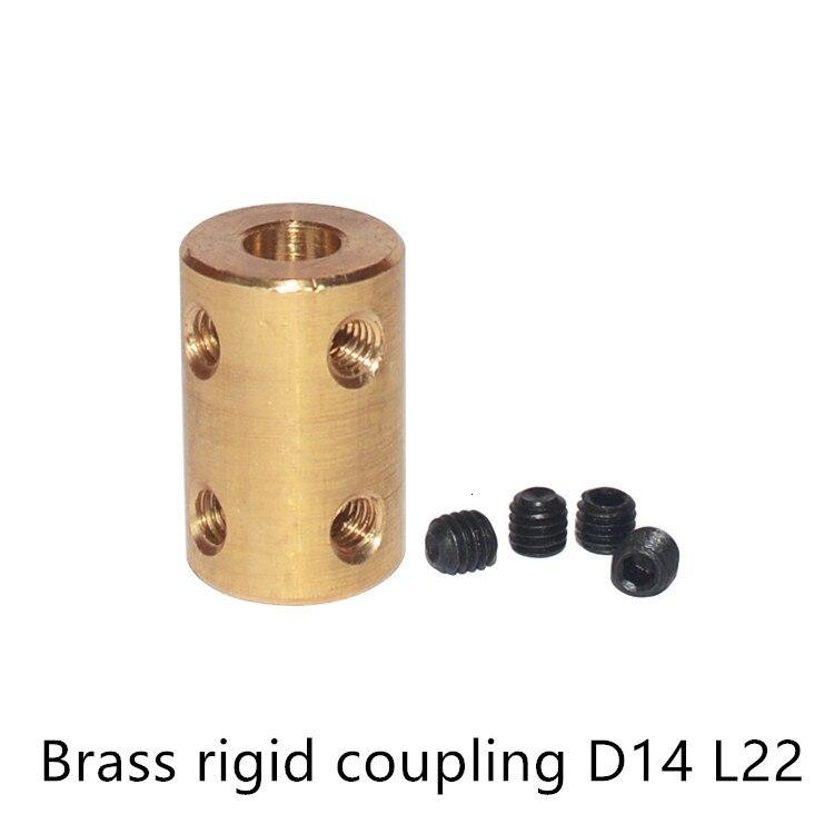 GKTOOLS D14L22 cobre de latón 4/5/6/8mm, Motor de eje rígido, acoplamientos de acoplamiento, Conector de Motor rígido