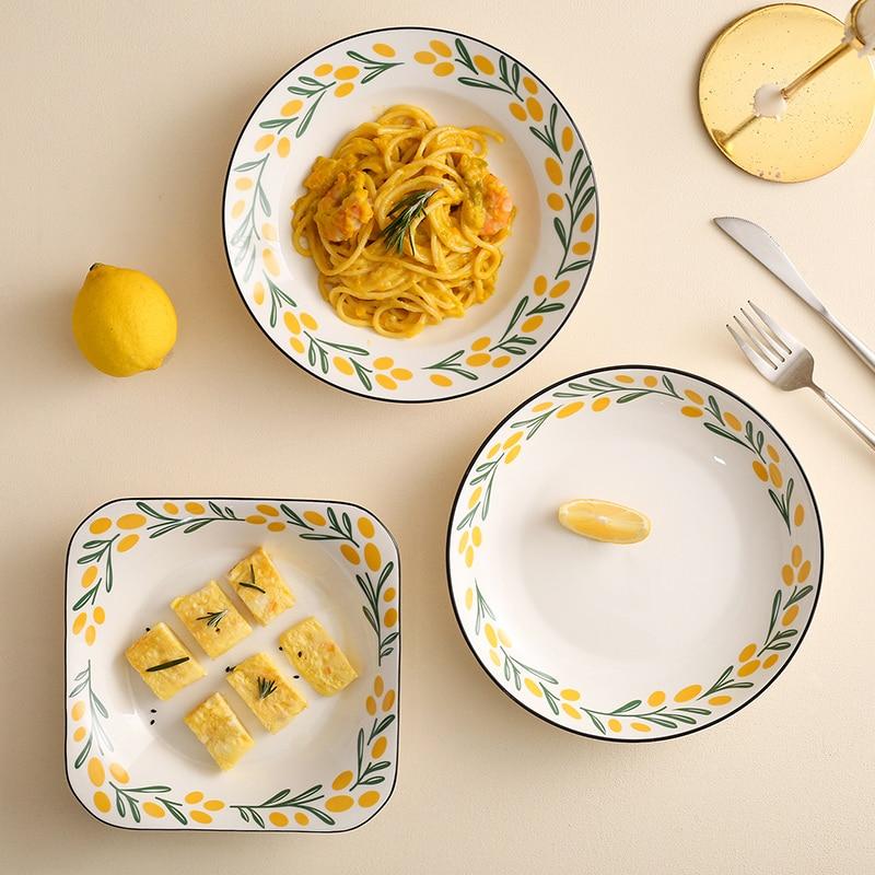 تخدم أطباق عشاء الإبداعية الحلوى السيراميك لطيف الشمال أطباق السوشي الفاخرة أطباق مطعم Vajilla لوازم المطبخ 60