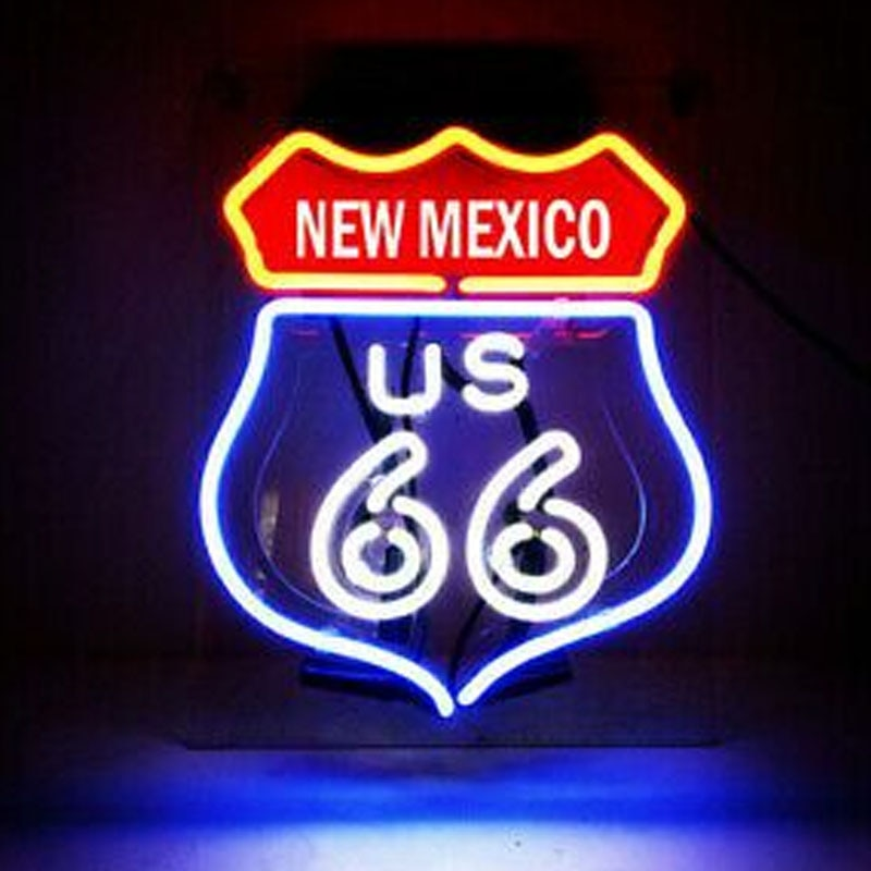 النيون ل جديد الطريق 66 نيو مكسيكو الطريق بار مصباح ريستيرانت ضوء فندق مخصص المنزل تزيين العشاء القهوة تأثير جذب ضوء