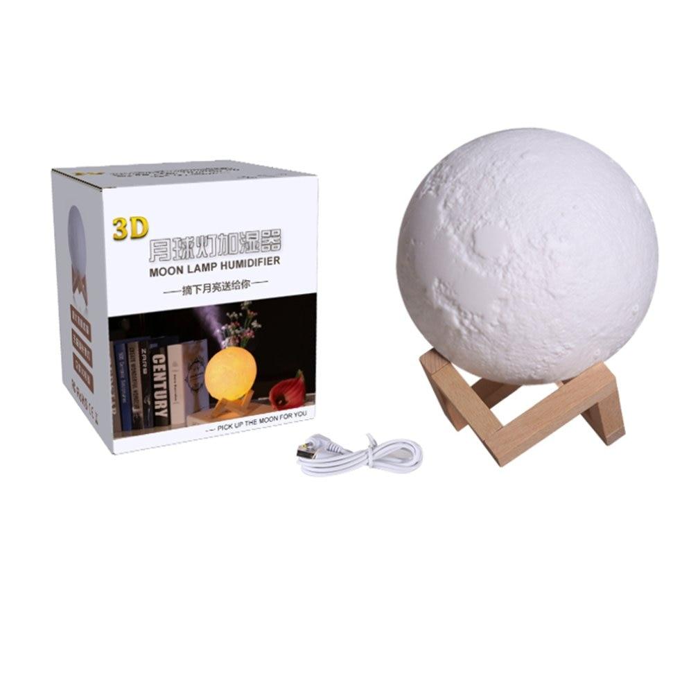 880ML 3D Moon Lamp Light Humidifier Diffuser Aroma Essential Ultrasonic Humidifier Night Cool Mist P