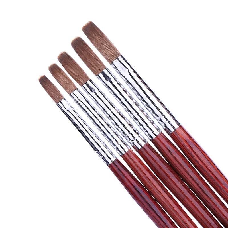 1 шт. деревянная ручка акриловая кисть для ногтей Мягкие Кисти акрилового порошка