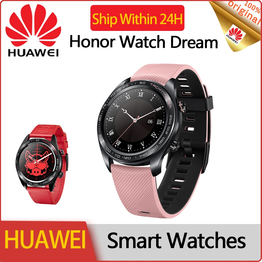HUAWEI Honor Smart Watch for Women Health and Beauty Waterproof Sports Ladies Watches 2020 Smartwatch for Iphone Android Pink