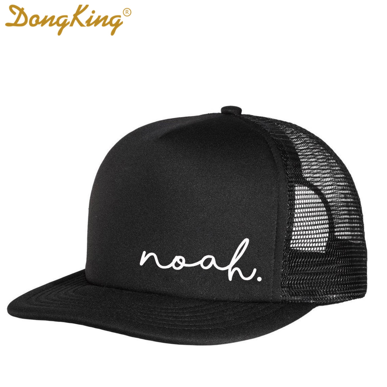 DongKing 2021 New Kid's Custom Name Mesh Trucker Hat Cap Design Snapback Personalized Child Adult 2