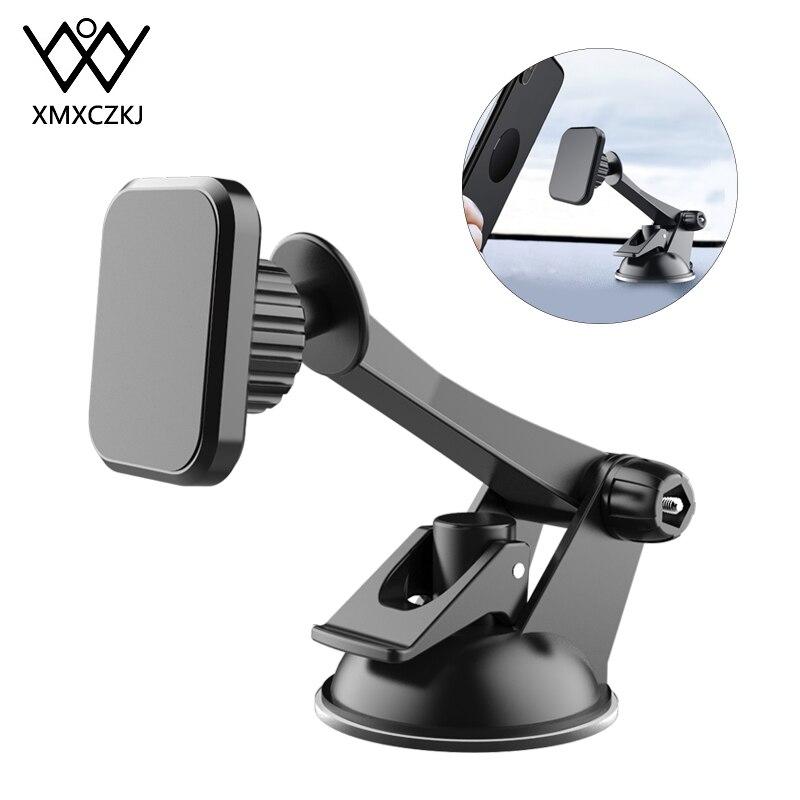 XMXCZKJ Support de téléphone magnétique pour voiture Support en voiture Support cellulaire ventouse pare-brise Support pour tableau de bord pour iPhone Xiaomi Huawei