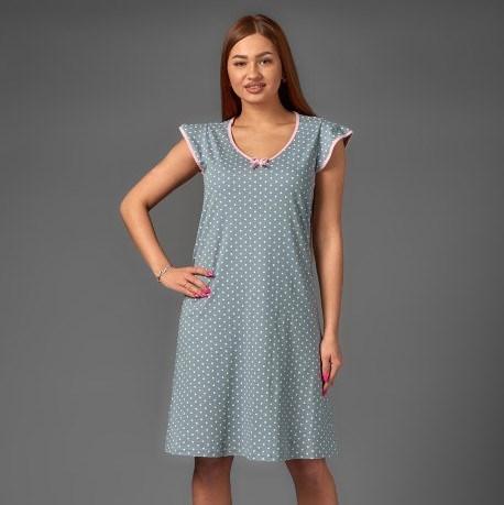 Camisa para mujer Atoff home ZHS 016 (guisantes en gris/beige/OSO)