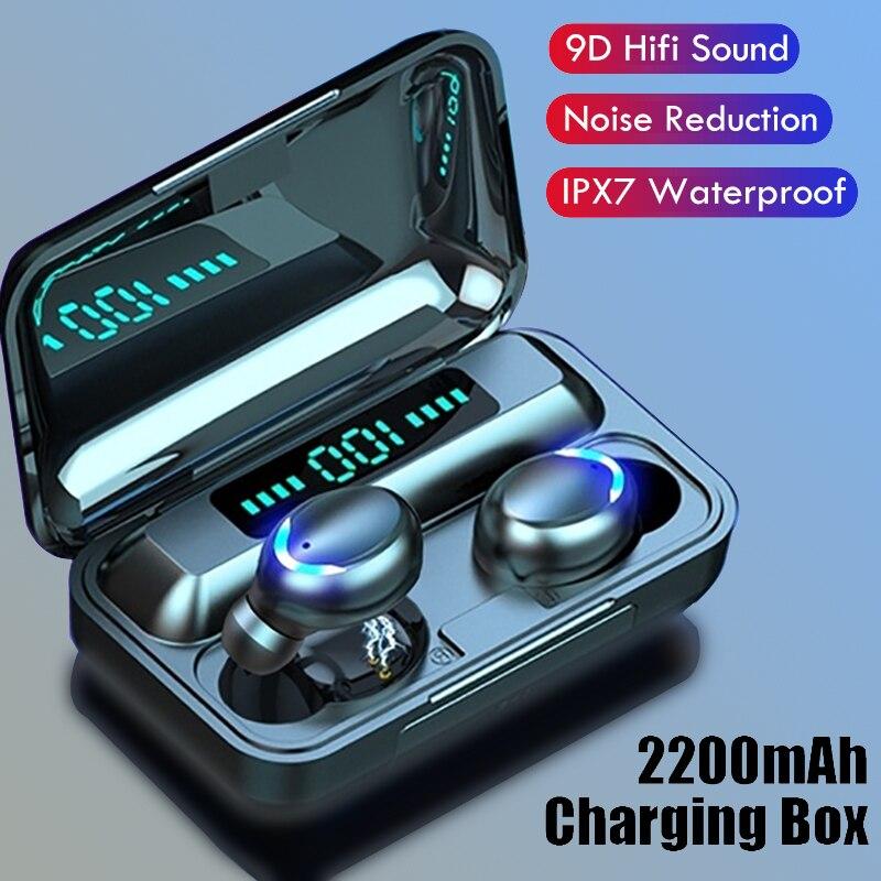 TWS Bluetooth 5.0 Earphones Touch Control Wireless Headphone HiFI Stereo Sports Waterproof Headset I