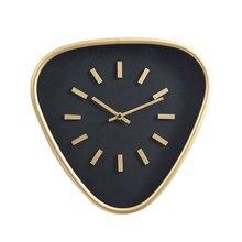 Nordique Triangle horloge murale en métal 3d silencieux or montres murales décor à la maison salon créatif moderne montre de poche Klok idées cadeaux
