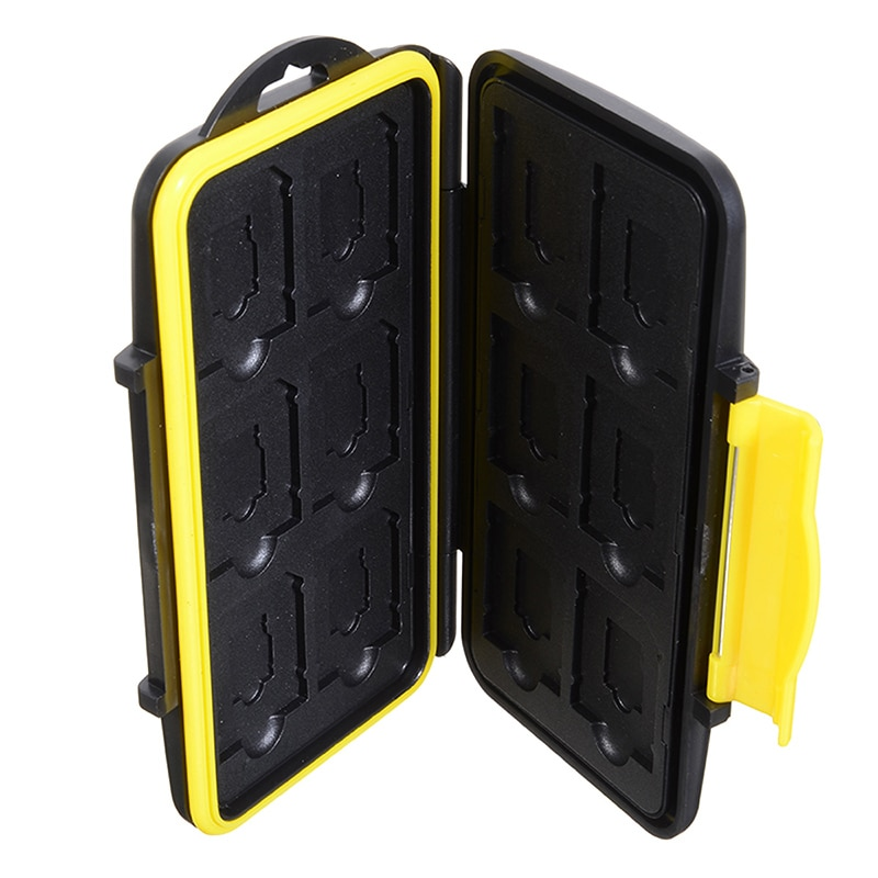 1PC Storing Case Micro SD/TF Cards Holder Portable Storage Box Card Protecting Placing Boxs Waterproof ABS 12 Slots enlarge