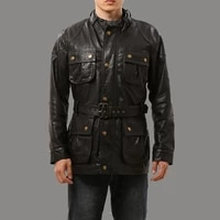 rockcanroll big 0909 us size genuine sheep skin jacket mens super top quality long casual leather jacket