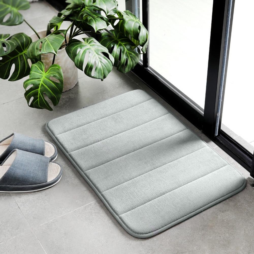 40x60cm Coral Fleece Bath Carpet Water Absorption Anti-Slip Door Floor Small Rug Modern Plush Mat For Bedside Living Room Decor