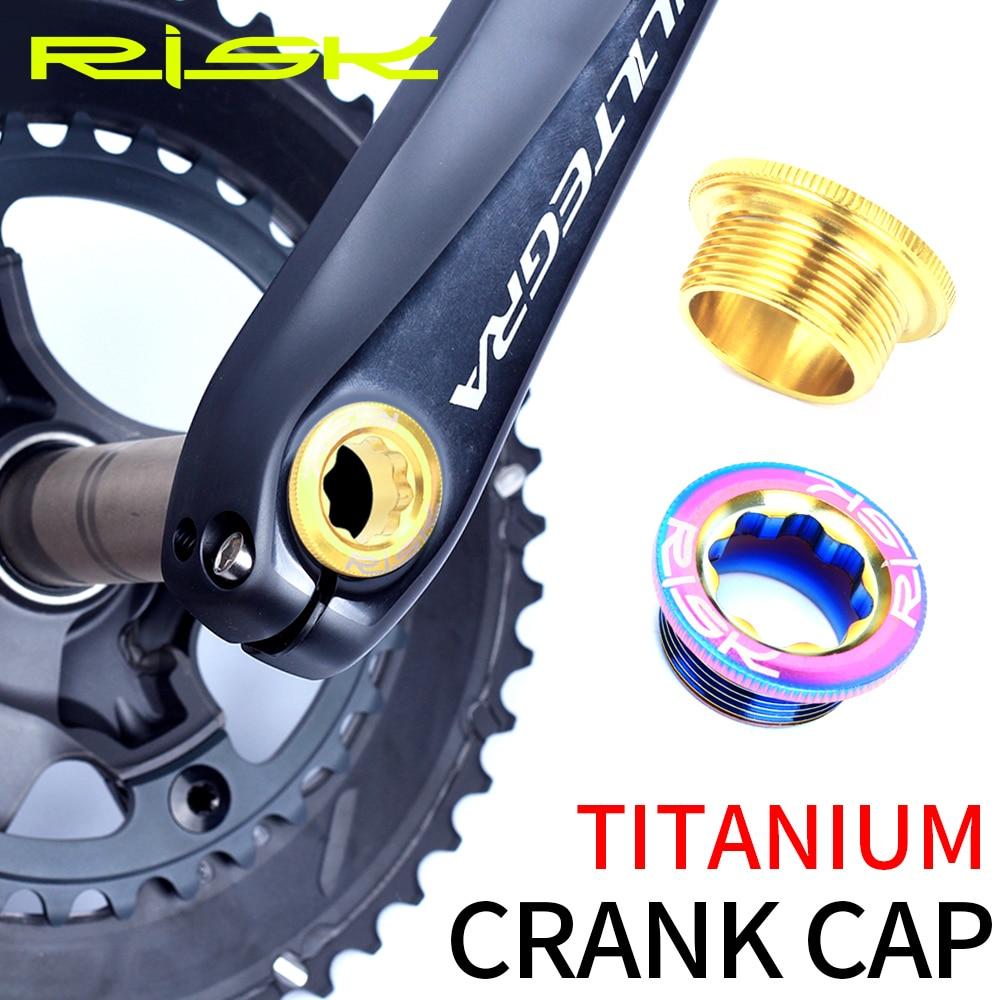 Riesgo M20x8mm de titanio de bicicleta de aleación de platos y bielas brazo tapa pernos de rueda de cadena manivela roscas de tornillo para MTB bicicleta de montaña brazo de manivela M20