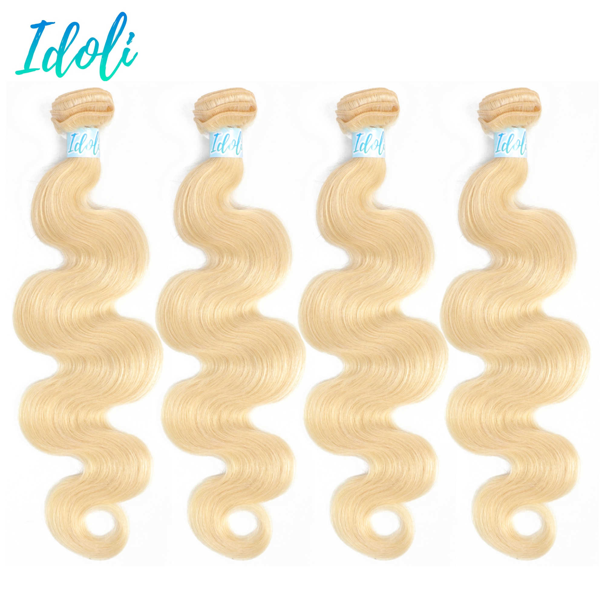 Extensiones de cabello rubio degradado Wave613 mechones de cabello peruano 1 3 4 mechones tejidos 100% cabello humano Remy idoli compra a granel