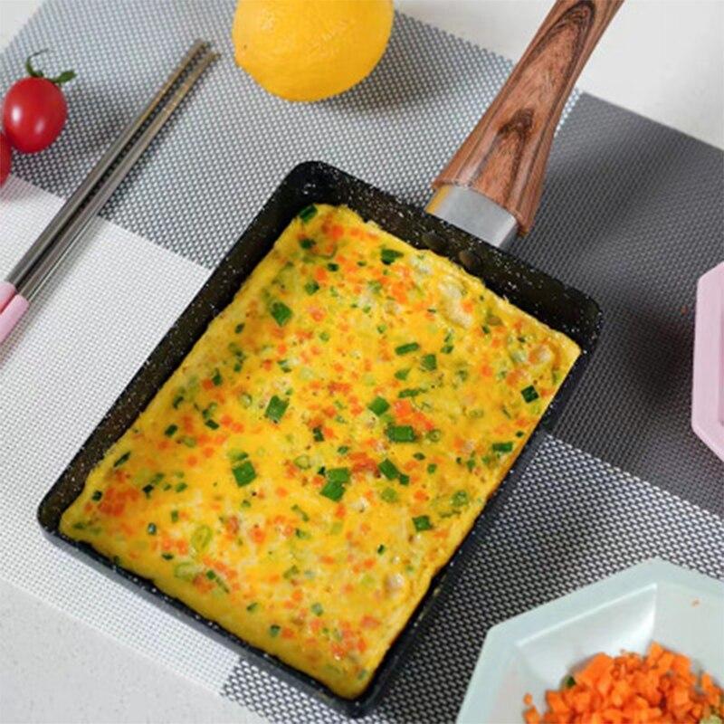 Mini sartén cuadrada antiadherente, Hamburguesa de huevo frito, sartén pequeña, sartén para el desayuno, utensilio de cocina, sartén antiadherente, sartén de huevo nuevo