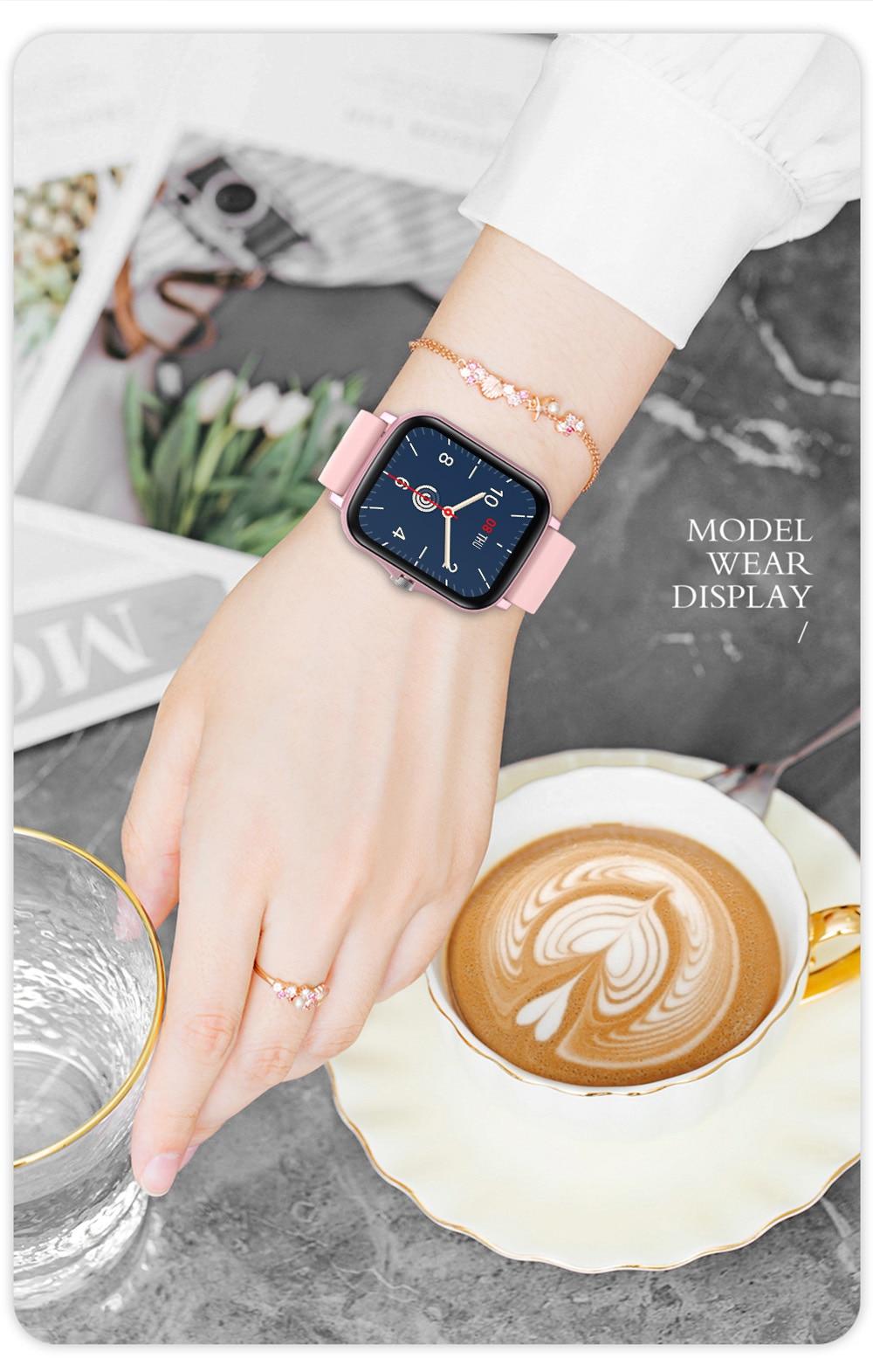 Ha9767b5c43824cb4a76139381401edbes COLMI P8 Plus 1.69 inch 2021 Smart Watch Men Full Touch Fitness Tracker IP67 waterproof Women GTS 2 Smartwatch for Xiaomi phone