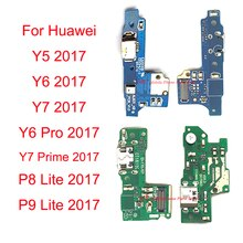 Neue USB-Lade Board Dock Port Laden Flex Kabel Für Huawei Y5 Y6 Y7 Pro Prime 2017 / P8 P9 lite 2017 Ersatz Reparatur Teil
