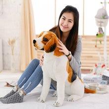 New Giant Cute Beagle Dog Plush Toy Stuffed Soft Animal Pillow for Kids Kawaii Valentine Birthday Gift Home Decor Family Mascot