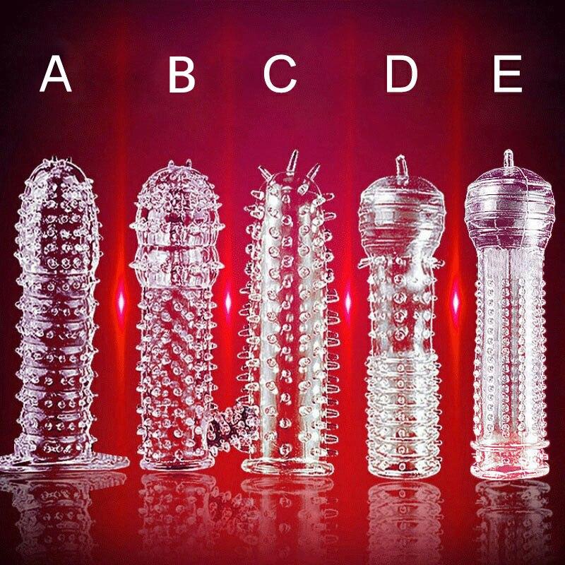 5 Pcs Men's Penis Covers Lengthen Delay Sex Products Finger Cock Ring Set Sex ToyAdult Sex Toy For Men Women Sex Shop