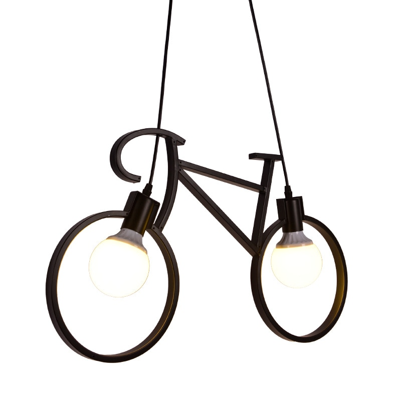 Iron Bicycle Chandelier Modern Style Chandelier For Living Room Dining Room Cafe Lighting Personality Lamps Home Decor
