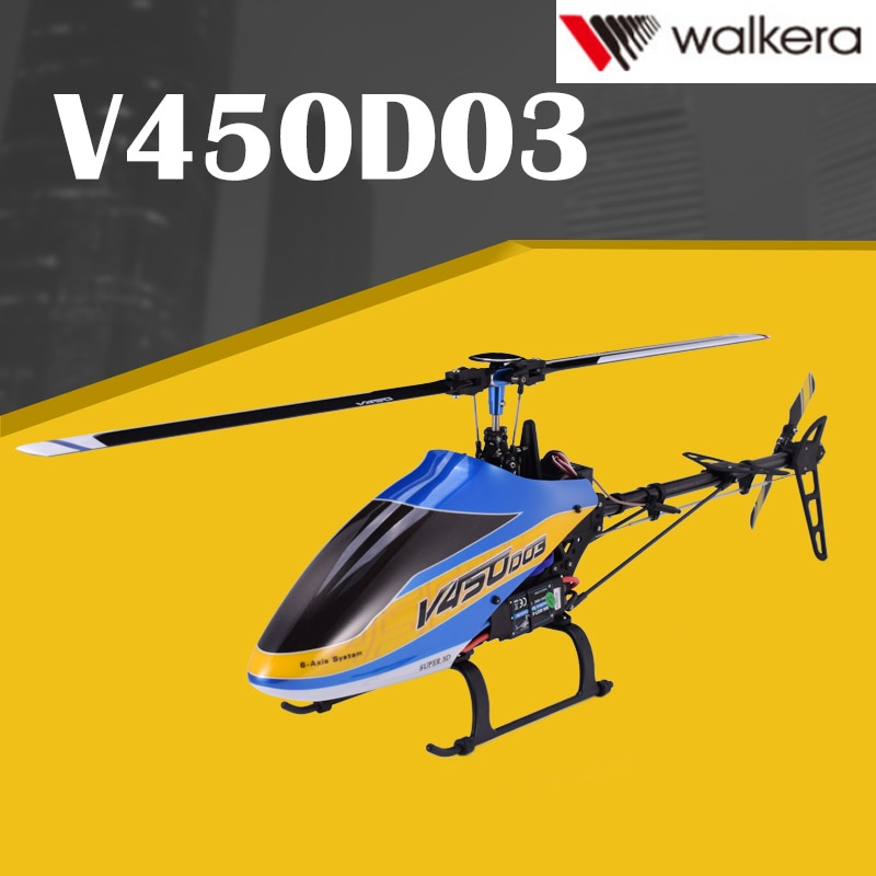 Walkera 450 New V450D03 6CH 3D Fly 6-Axis Stabilization System Single Blade Professional Remote Cont