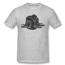 Unisexe Haute Q Imprimer Caméra Fonte Tee Shirt Bon Caméraman Photographe Bio Coton Col Rond t-shirt