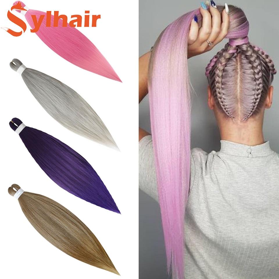 20 Inch 75g Kanekalon Hair Synthetic Jumbo Braid Yaki Straight Hair Extension Pink Blonde Twist Brai