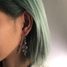 Trendy Vintage Snake Shape Dangle Earrings for Women Girl Retro Drop Earrings Cute Small Object Earr