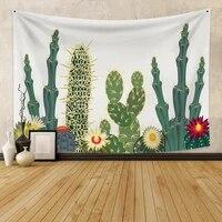 laeacco carpet blanket tapestry wall hanging beach throw sandy camping tent nordic cactus yoga mat mattress