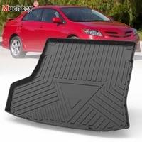 muchkey tpe trunk mat for toyota corolla 2007 2013 car waterproof non slip custom rubber 3d cargo liner accessories