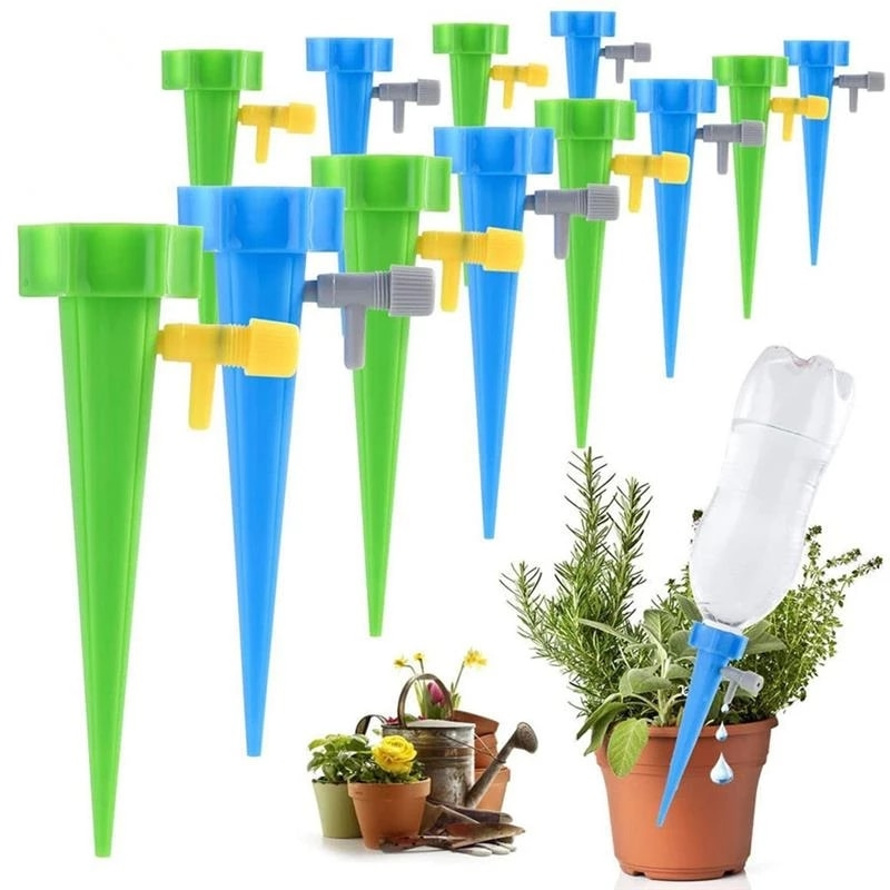 36/24/12/6/1 PCS Auto Drip Irrigation Watering System Dripper Spike Kits Garden Household Plant Flower Automatic Waterer Tools