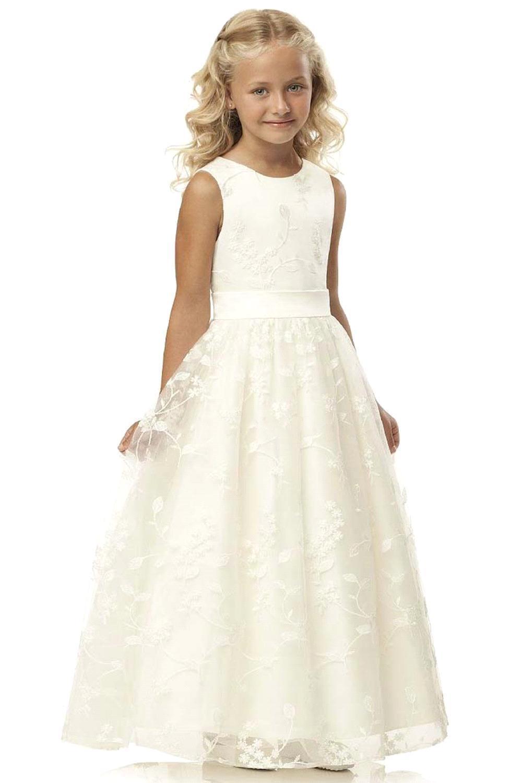 2-12T princesa lazo flor niñas vestidos 2020 apliques niños bola vestido de fiesta de cumpleaños vestidos niños vestido de malla