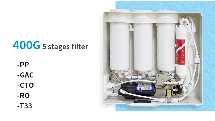 REVERSE OSMOSIS WATER PURIFICATION SYSTEM 400G tankless enlarge
