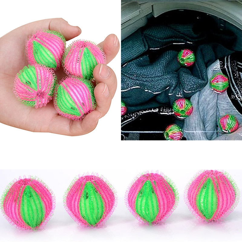 Hot 6Pcs/Pack Eco-Friendly Magic Laundry Ball Clothes Personal Care Hair Ball Washing Machine Hair R